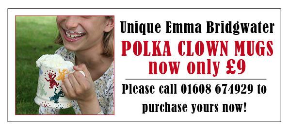 Polka Clown Mug flyer1
