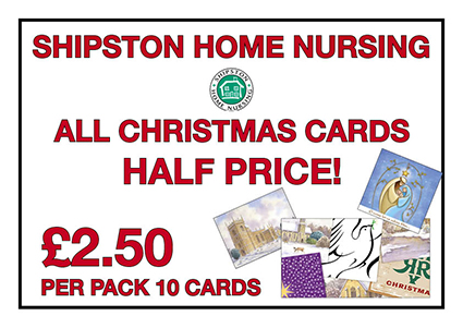 xmas cards sale flyer